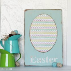 Foam Egg Easter Sign
