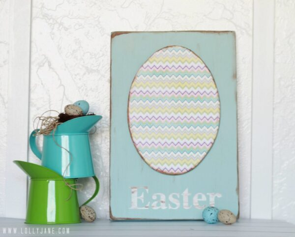 DIY foam egg Easter sign #easterdecor #tutorial