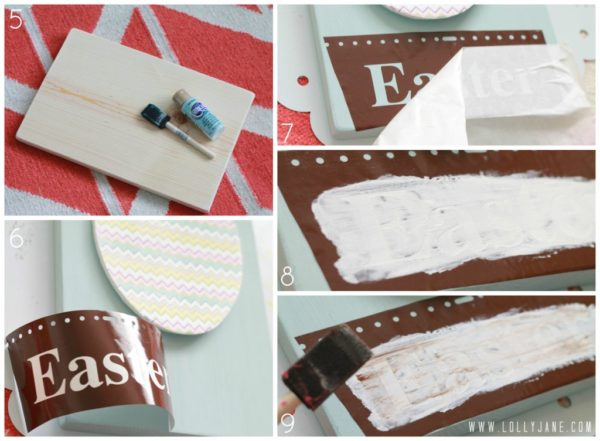 How to stencil a sign #easterdecor #tutorial