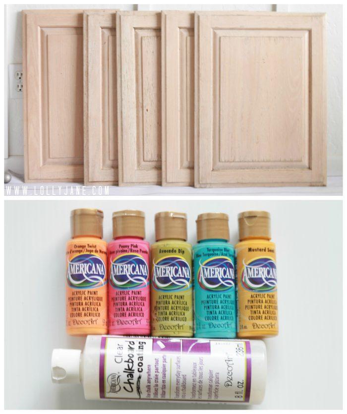 How to use chalkboard clear coat #chalkboard #diy