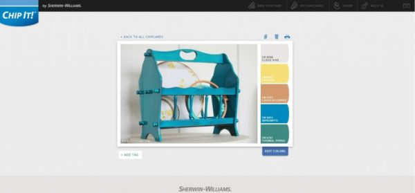 How to use @Sherwin-Williams Chip it! tool via @lollyjaneblog #colorinspiration #paintcolor