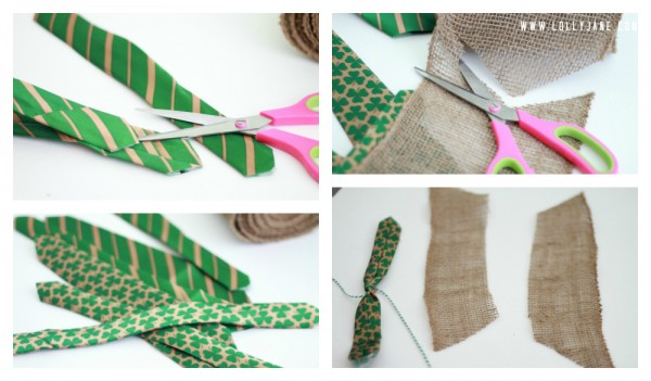 How to make a burlap tie bunting, super easy!