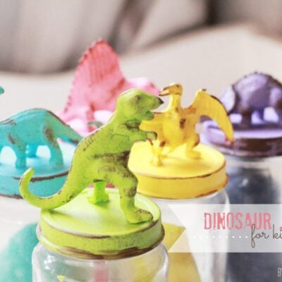 Dinosaur jar lids for kids storage