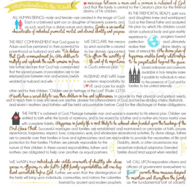 The Family Proclamation | free printable