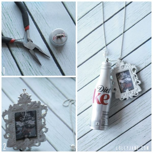 How to make a Diet Coke necklace | www.lollyjane.com