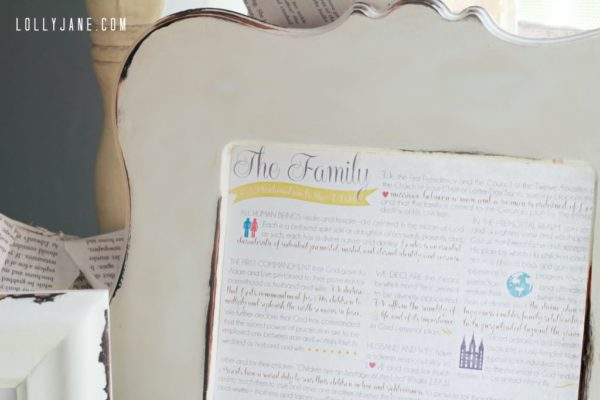 Free Family Proclamation printable | www.lollyjane.com