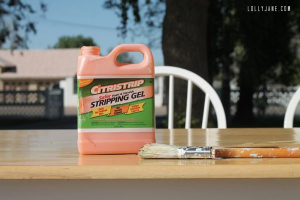 Best stripping gel to refinish furniture, Citristrip! #refinishfurniture #citristrip