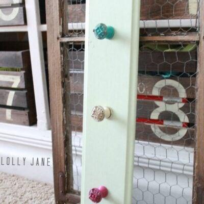diy cupboard door hooks