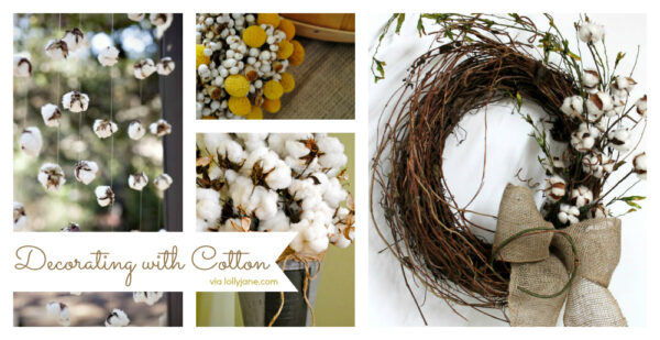 Decorating with cotton #homedecor #cotton