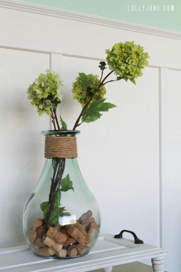 Easy vase filler, corks! #diy #vasefiller