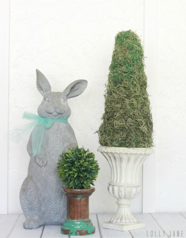 Easy spring DIY topiary!