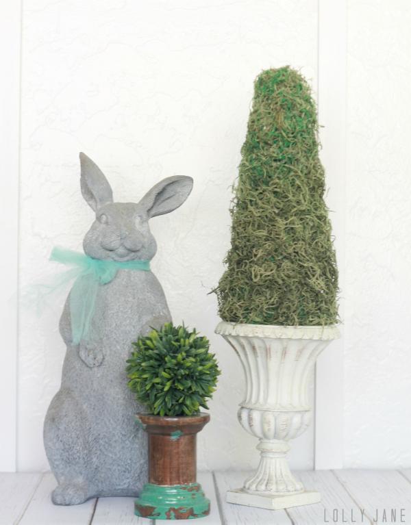Easy spring DIY topiary!
