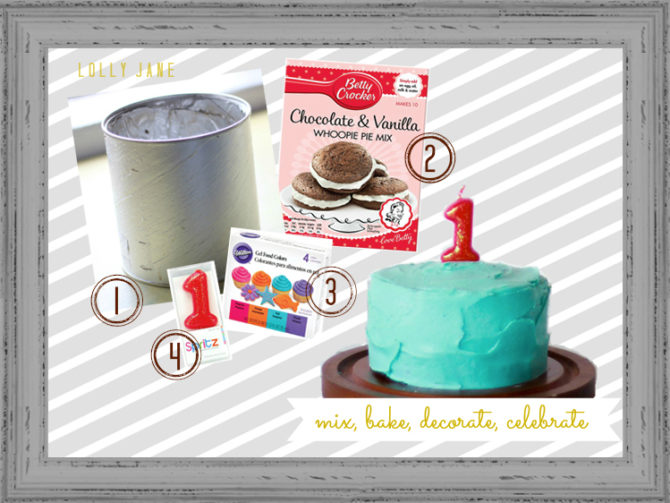 "How to create the perfect first birthday smash cake! Use a 3"" round pan but if you don't have one, check out how to make a smash cake in a formula tin! Easy to follow instructions to make a smash cake and first birthday photo shoot! #smashcake #howtomakesmashcake #smashcakephotoshootideas #howtocreatebabysfirstbirthdaybackdrop"