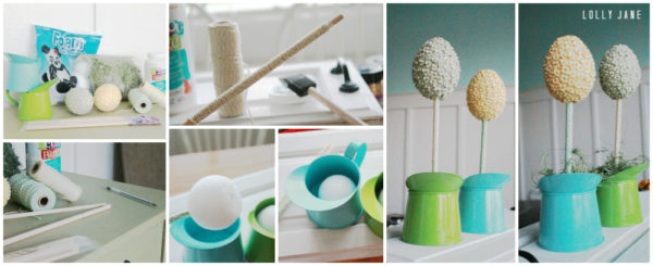 How to make an egg topiary tutorial!
