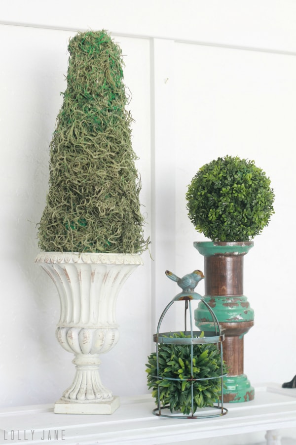 Inexpensive DIY topiary!