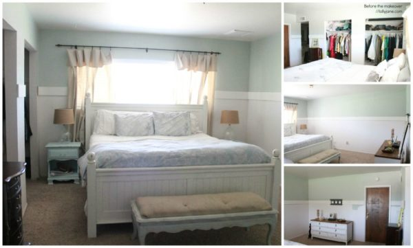 Master bedroom makeover BEFORE pic, the after pic is amazing! #masterbeddroom #makeover