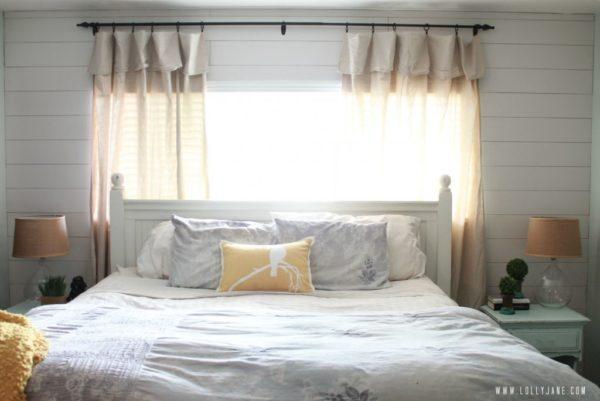 Plank wall master bedroom, so cute! #masterbedroom #plankwall