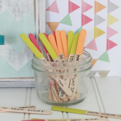 DIY: Boredom Buster Popsicle Sticks