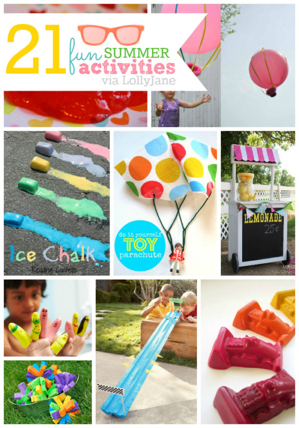21 fun activities you can do this summer via LollyJane.com #summerboredombusters