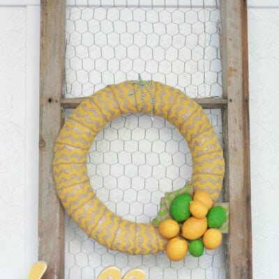 Chevron citrus wreath