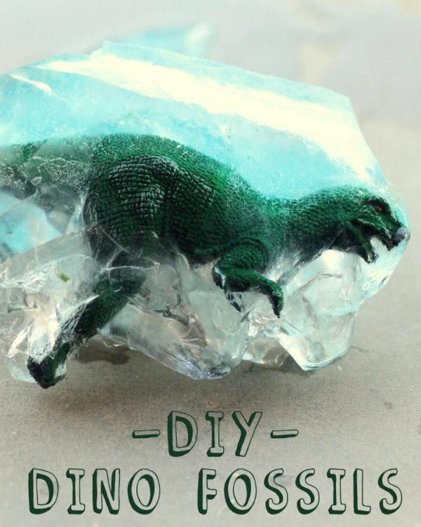 DIY dinosaur fossils #summerboredombuster