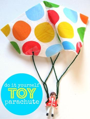 DIY parachute #summerboredombuster