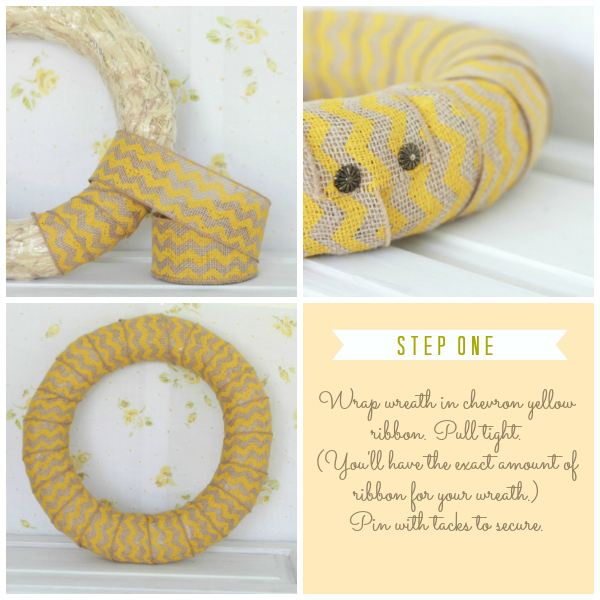 DIY cute chevron citrus wreath by lollyjane.com