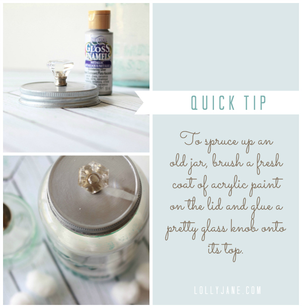 Tip on how to spruce up an old mason jar #masonjar #decoart