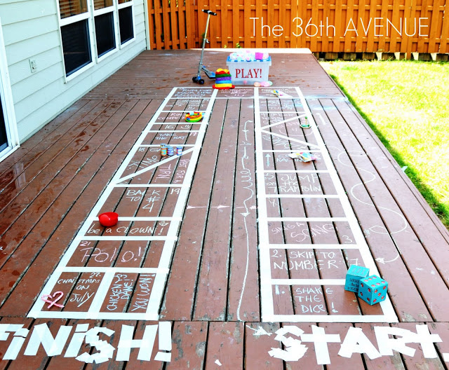 Make your deck a giant game board #summerboredombuster
