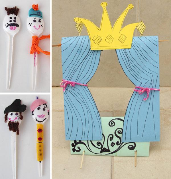 Spoon Puppet Theater #summerboredombuster