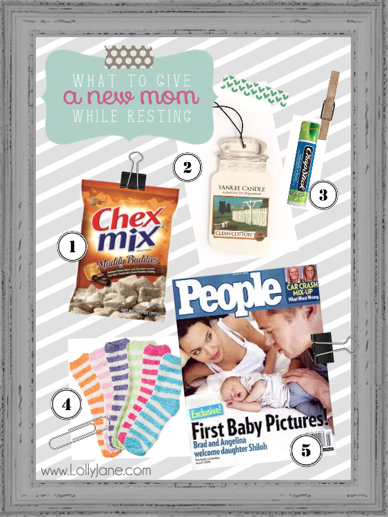 Fun ideas on what to give a new mom while resting from childbirth