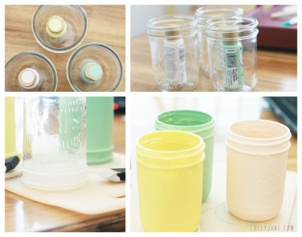 DIY painted mason jar tutorial #masonjar #distressed