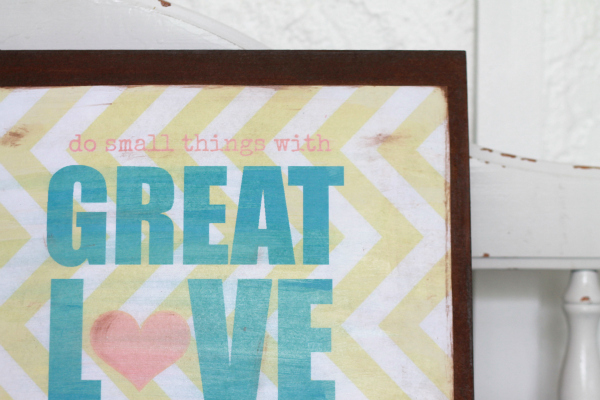 DIY distressed printable sign