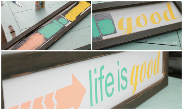 Directions to make Life is good sign #diy #sign