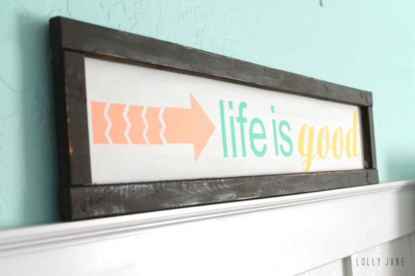 Easy life is good sign! #diy #handpaintedsign