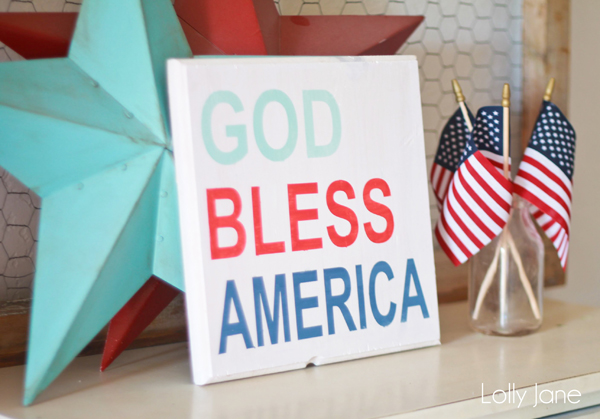 4th of July sign | God Bless America!