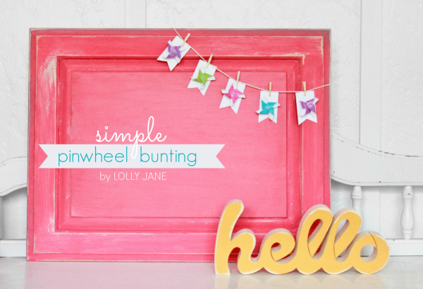 Simple pinwheel bunting