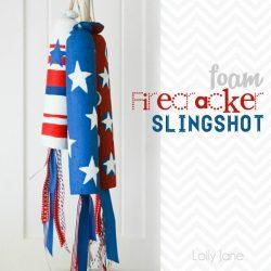 Foam firecracker slingshot