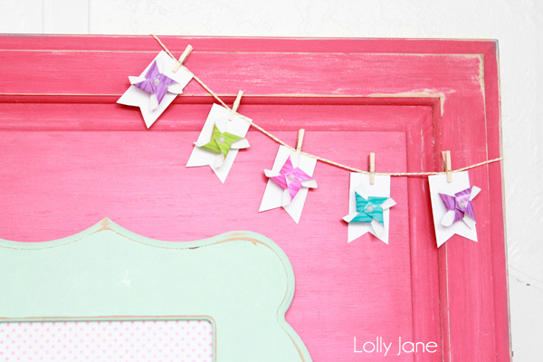 Simple DIY pinwheel bunting