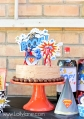 Easy superhero party birthday cake