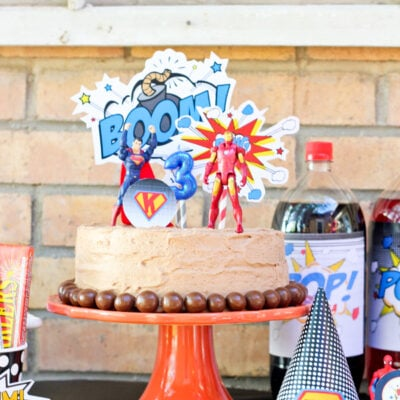 Superhero birthday party ideas + party package giveaway