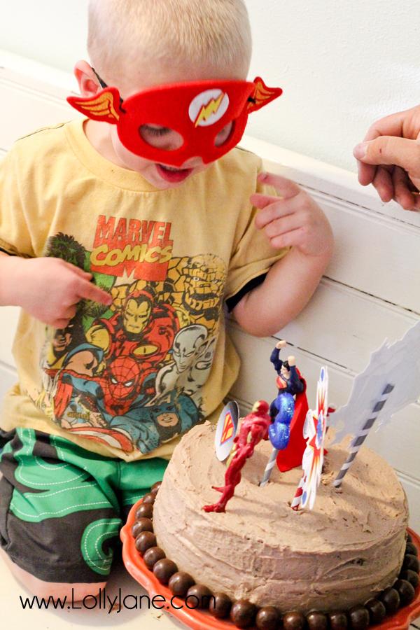 Make a wish, little superhero! ;)