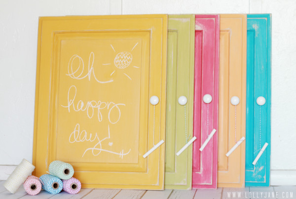 Chalkboard paint any surface in any color | tutorial