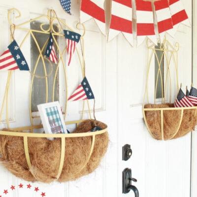 DIY 4th of July bunting