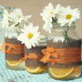 Easy to make, mason jar vases!