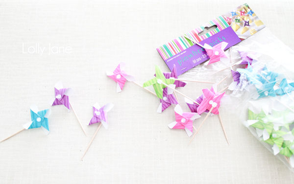 Cute pinwheels to make a bunting