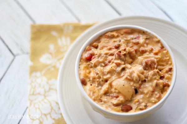 Creamy Velveeta cheesy chicken chili