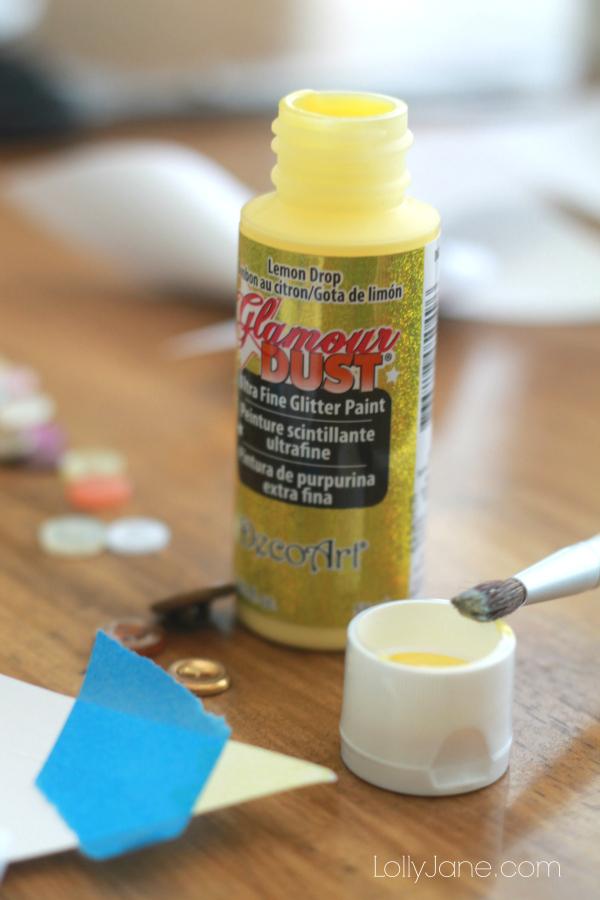 DecoArt glamour dust glitter paint rocks!