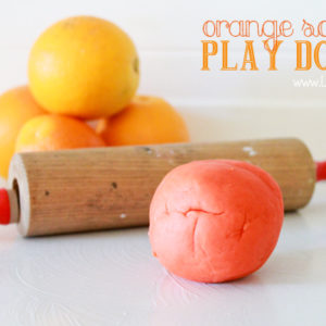Orange scented play dough by Lolly Jane
