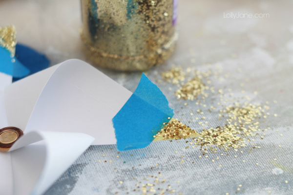 DIY gold tipped pinwheels!